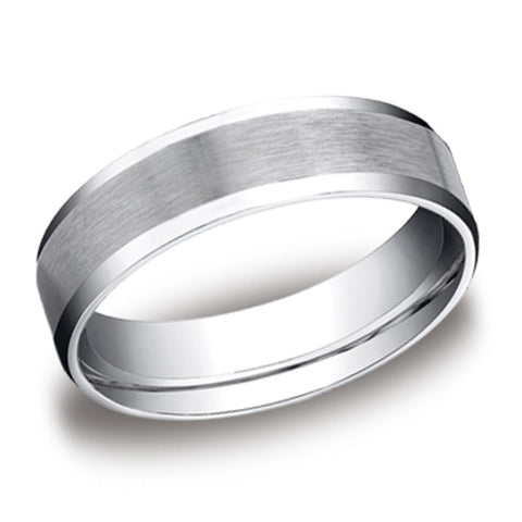 Carved Wedding Band - Beveled Edge