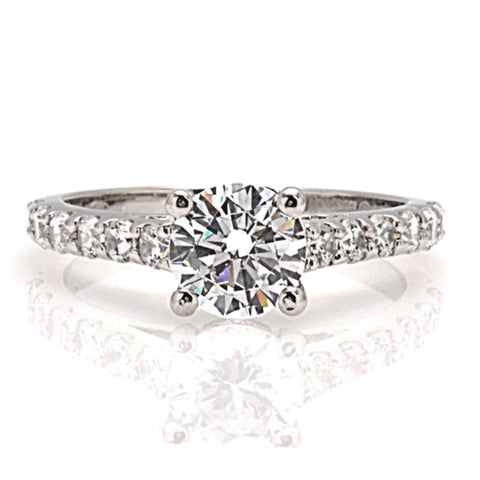 Engagement Ring with Diamond Band