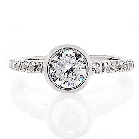 Engagement Ring with Bezel