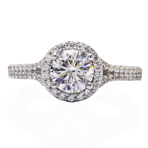 Engagement Ring with Round Halo