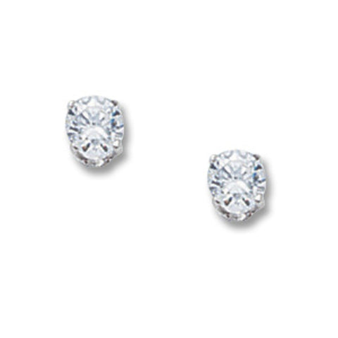 Cubic Zirconia Studs in Three Sizes