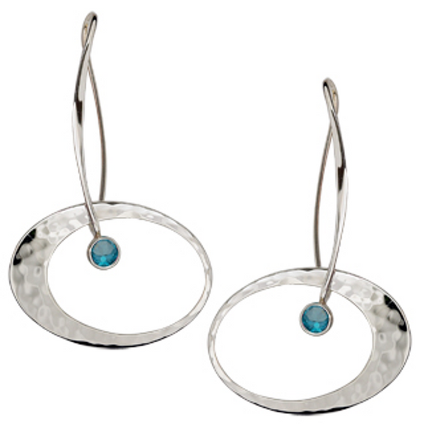 "Ed Levin ""Elliptical"" Earrings"