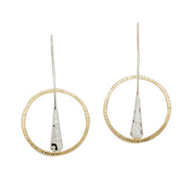 "Ed Levin ""Gold Over Wishful"" Earrings"