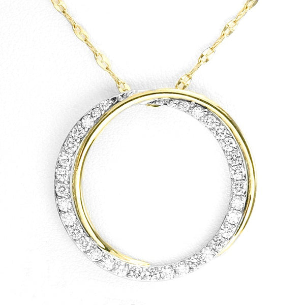 Yellow Gold and Diamond Circle