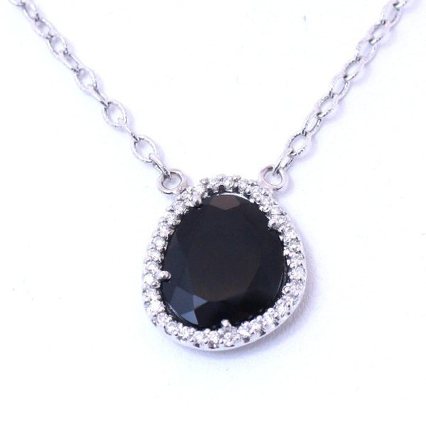 Onyx and Diamond Necklace