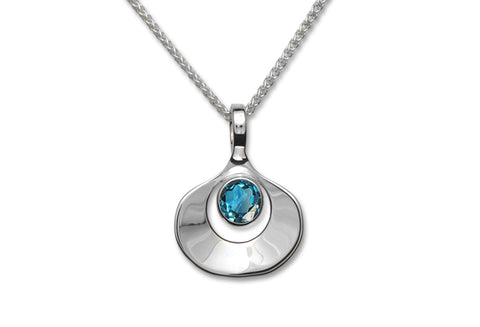 Ed Levin Sterling silver Dawn necklace with Blue Topaz