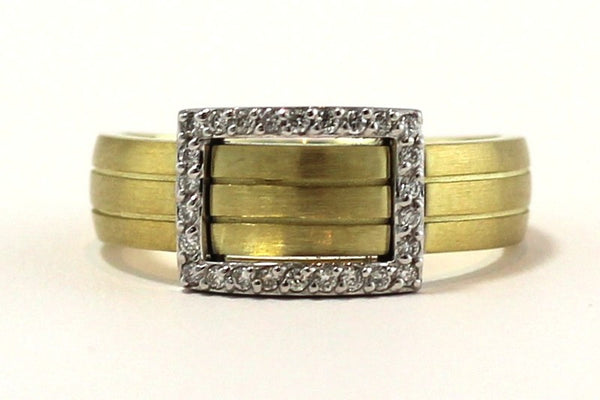 Gold Band with Diamond Buckle