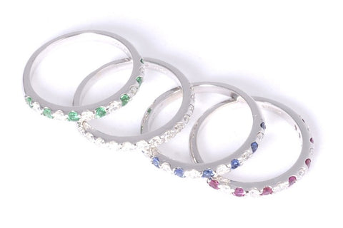Diamond and Colored Stone Eternity Bands