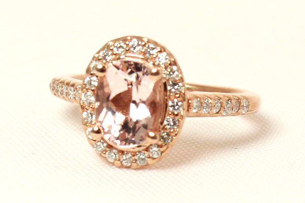 Pink Morganite Ring