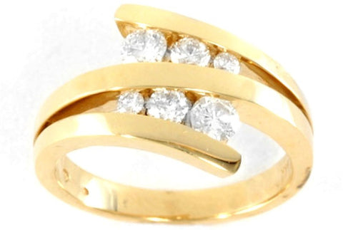Yellow Gold and Diamond Swirl Ring