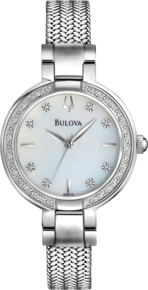 Aracena Collection, Bulova Diamond Women's Watch - Silver Tone