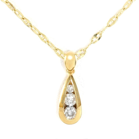 Gold Teardrop of Diamonds