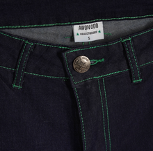 Load image into Gallery viewer, GREEN CONTRAST STITCH JEANS