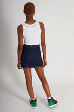 Load image into Gallery viewer, GREEN CONTRAST STITCH SKIRT