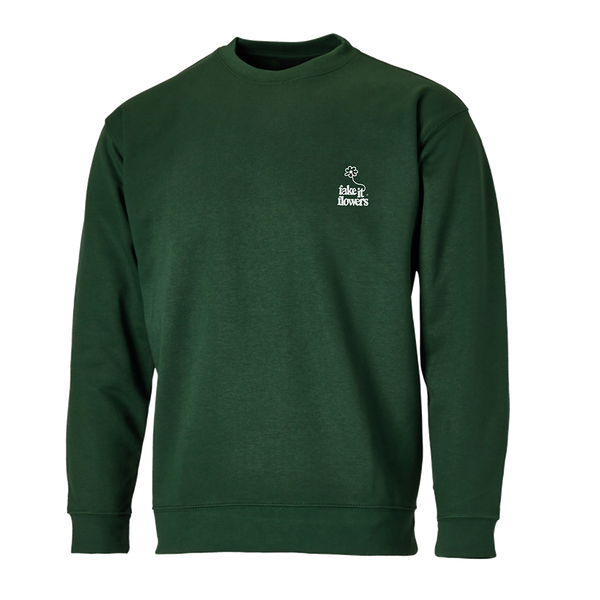 FIF EMBROIDERED SWEATSHIRT FOREST GREEN + ALBUM DOWNLOAD