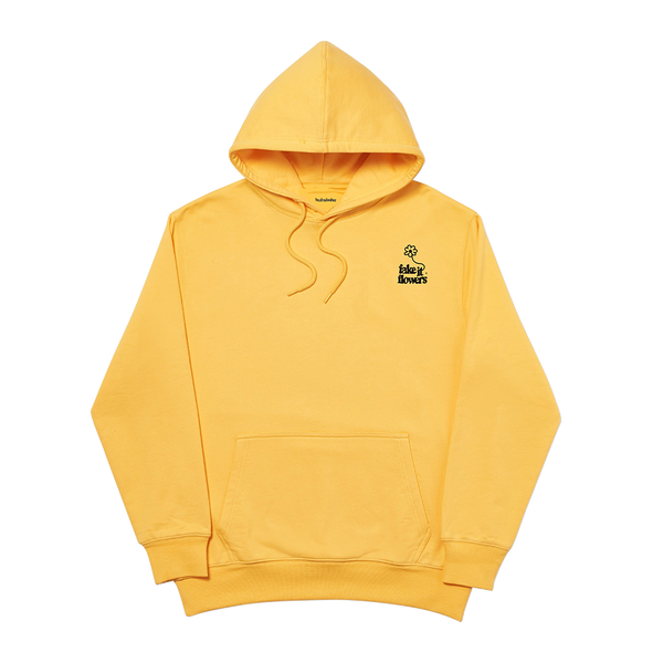 FAKE IT FLOWERS EMBROIDERED HOODIE GOLD + ALBUM DOWNLOAD