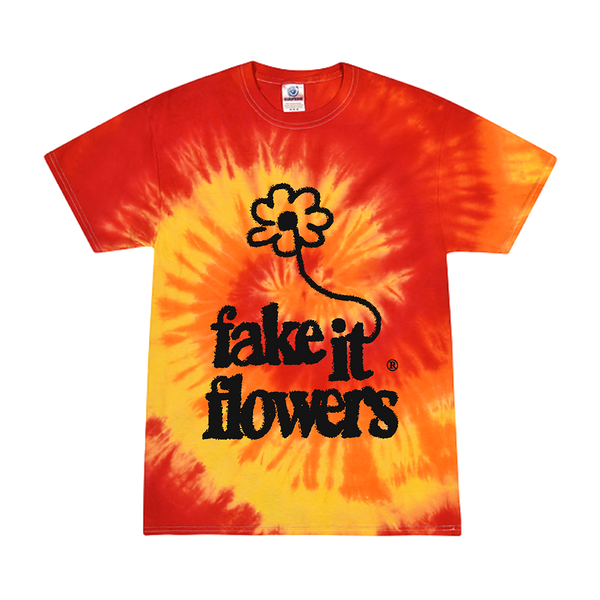 FAKE IT FLOWERS TRIPPING BALLS TIE DYE TEE + ALBUM DOWNLOAD