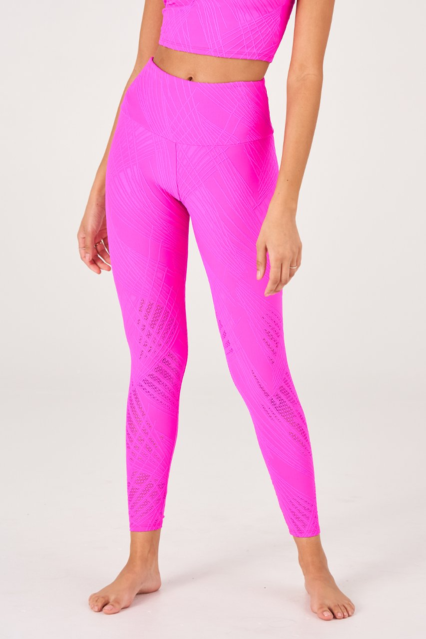 SELENITE MIDI LEGGING - KNOCKOUT PINK SELENITE