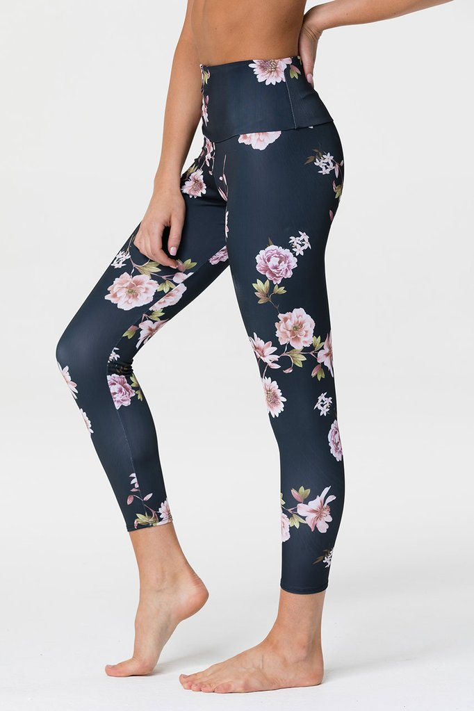 HIGH RISE MIDI LEGGING - JASMINE