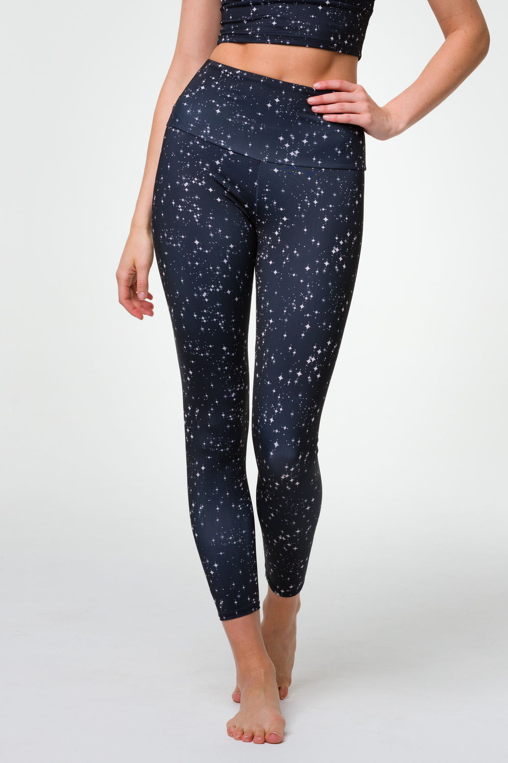 HIGH BASIC MIDI LEGGING - STARRY NIGHT
