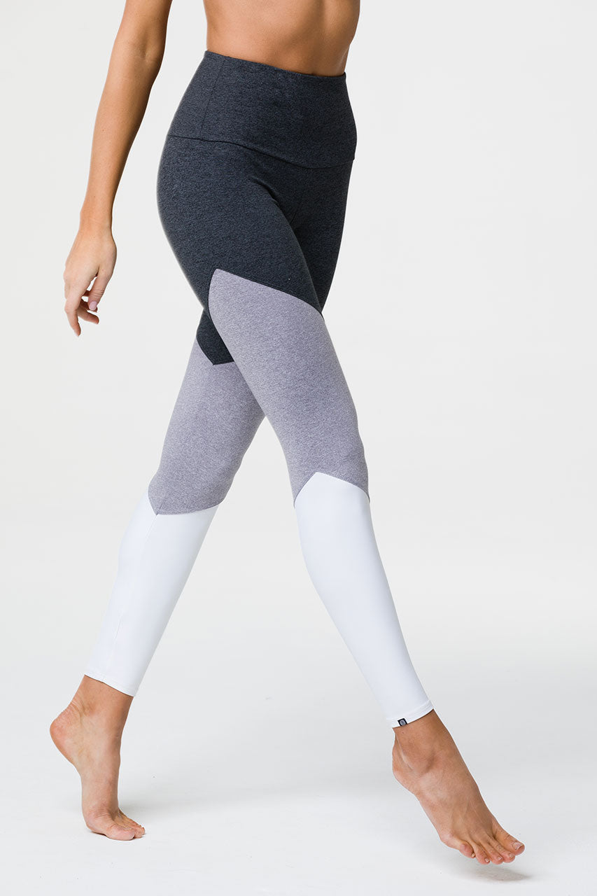 HIGH RISE TRACK LEGGING - SLATE GREY