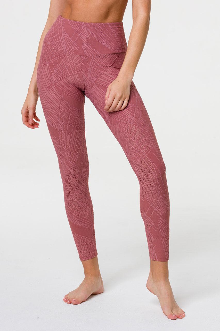 SELENITE MIDI LEGGING - ASH ROSE