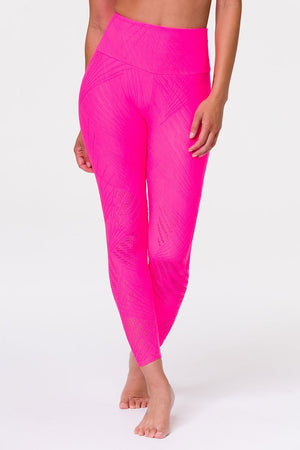 SELENITE MIDI LEGGING - NEON PINK SELENITE