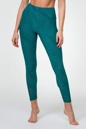 SELENITE MIDI LEGGING - TEAL SELENITE