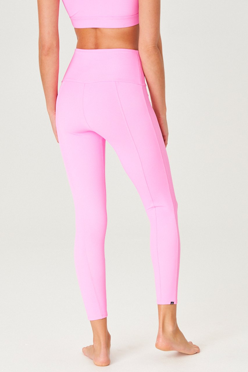 SWEETHEART LEGGING - BUBBLE GUM RIB