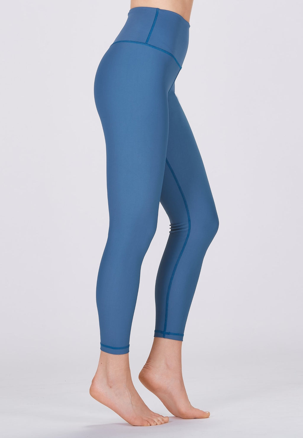 Classic High Waisted 7/8 Legging - Pine Blue