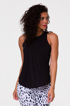 TWISTED TANK TOP - BLACK