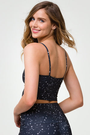 BELLE CAMI CROP TOP - STARRY NIGHT