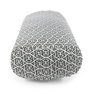 YOGA BOLSTER RESTORATIVE L BLACK BLOCK PRINT