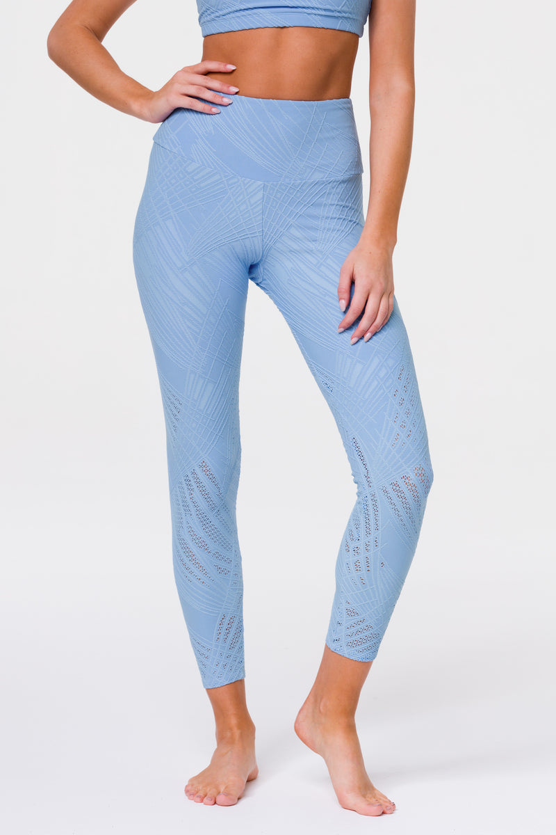 SELENITE MIDI LEGGING - POWDER BLUE SELENITE