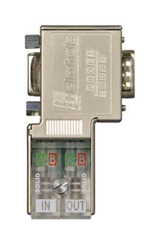 PROFIBUS Connector EasyConnect® 90° w/Piggy Back Port- 700-972-0BB50