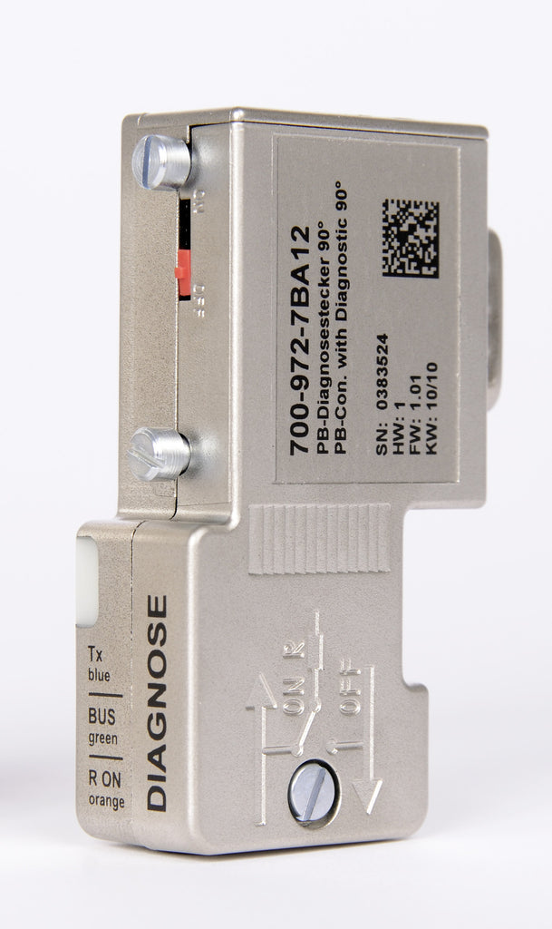 PROFIBUS Connector, with diagnostic LEDs 700-972-7BA12