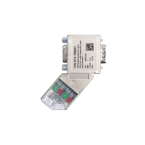 PROFIBUS connector, angled, EasyConnect®, diagnostics LED 700-972-7BB51