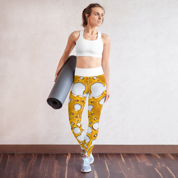 """Tootane"" - Cannabis Macro Art Yoga Pants by Dabsel"
