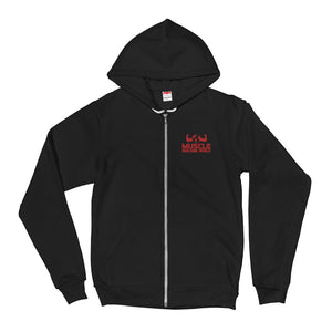 Embroidered Logo Zip Up Hoodie