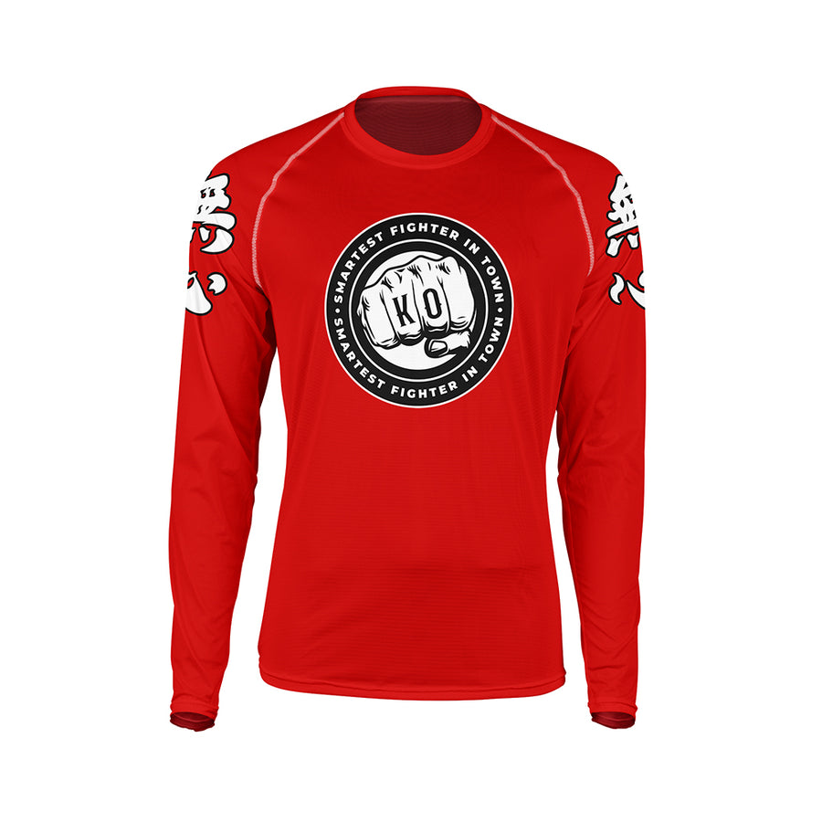 Mushin Smartest Fighter in Town Rash Guard