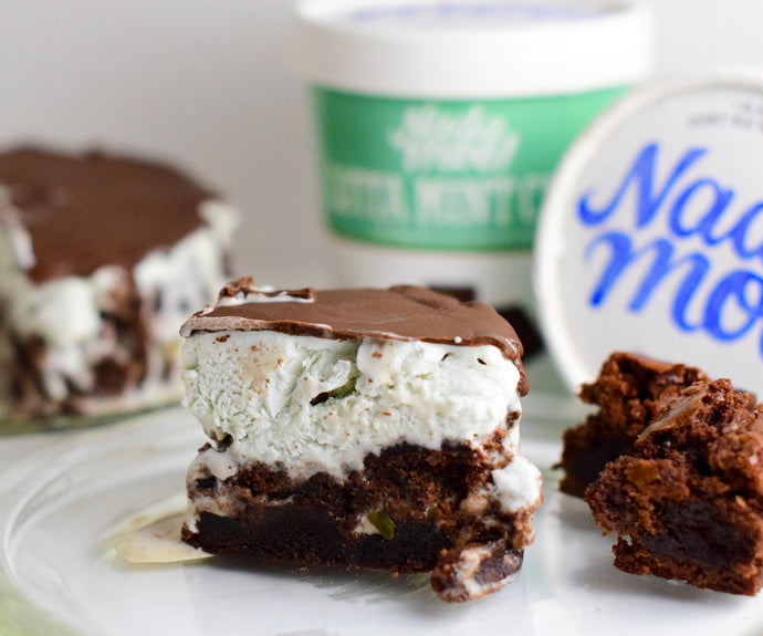 Mint Chocolate Chip Grasshopper Icebox Cake
