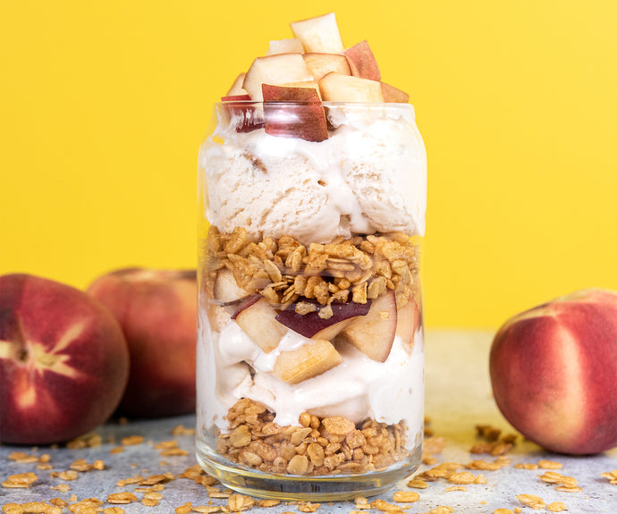 Peach Cobbler Parfaits