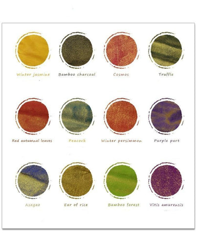 the 12 different color ink that will be provided in the package