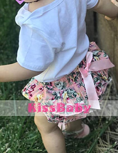 Infant Baby Girl Clothes Daddy's Girl Letter Print Romper Floral Bloomers