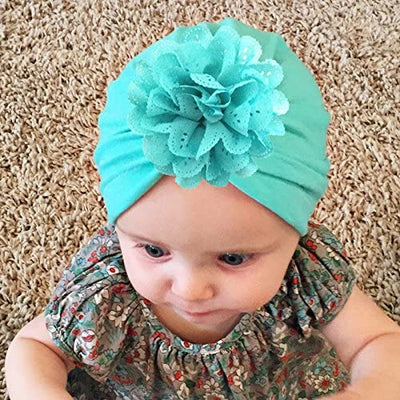 Nursery Beanie Headwrap Baby Girl Hat Hospital Hat Infant 1c