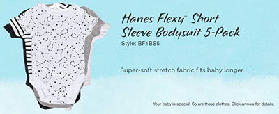 Hanes unisex-baby Ultimate Baby Flexy 5 Pack Short Sleeve Bodysuits