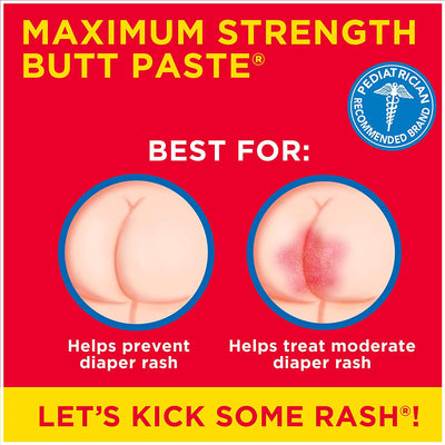 Boudreaux's Butt Paste Maximum Strength Diaper Rash Ointment, 2 oz Tube