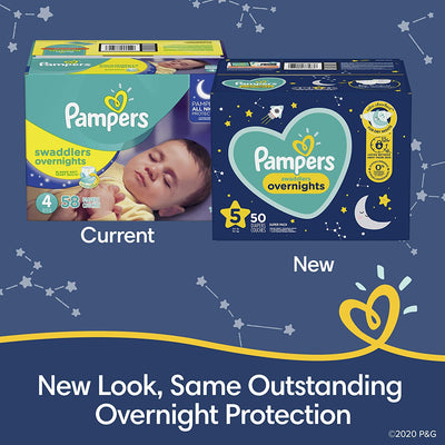 Pampers Swaddlers Overnights Disposable Baby Diapers, Super Pack