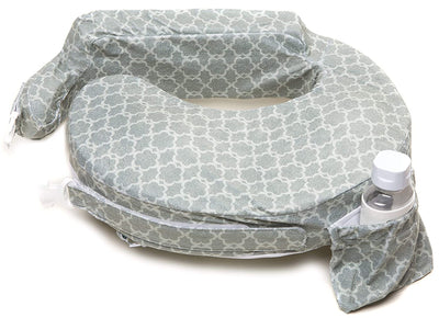 Deluxe Nursing Pillow, Flower Key Grey
