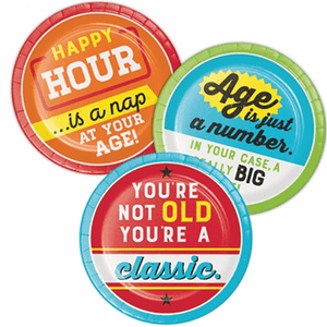 Over the Hill Dessert Plates 8 Count, Over the Hills Party, 40th Birthday, 50th Birthday, 60th Birthday, Over the Hill Party Supplies